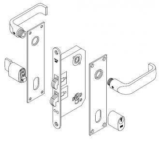 Trioving 5382/8 lock set kit long plate