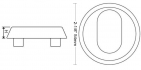 TV53CRE external rose dimensions