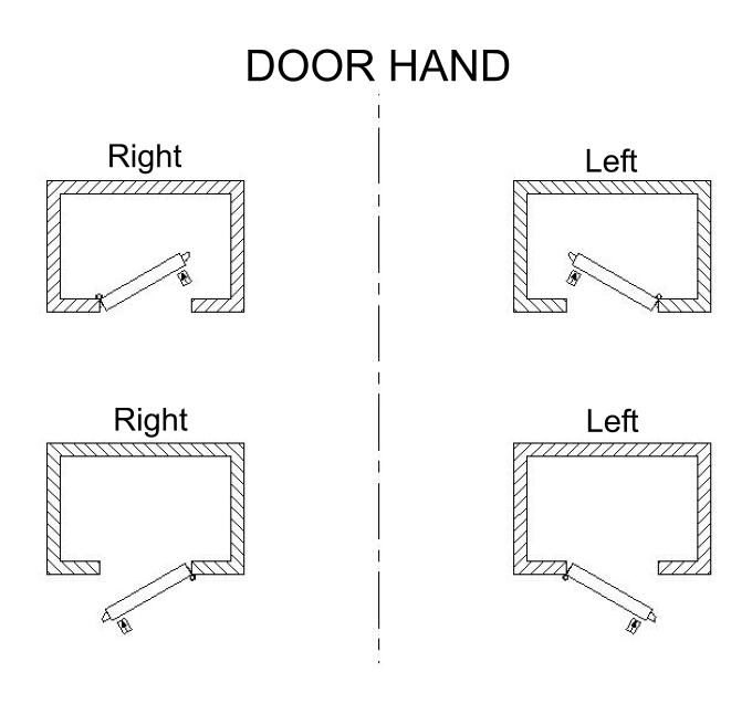 Trioving door hand